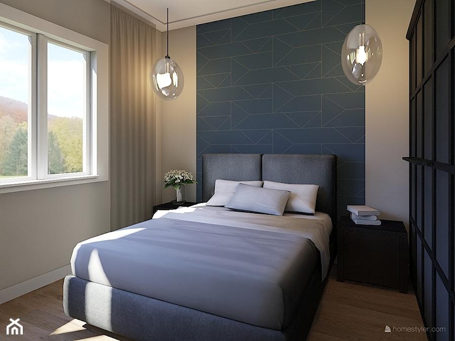 Projekt aranżacji domu mieszkalnego. - Sypialnia, styl nowoczesny - zdjęcie od MOMA HOME