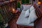 stolik taboret na balkon