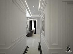 Apartament Zabrze - Średni biały hol / przedpokój, styl nowojorski - zdjęcie od ANNA ORLIKOWSKA ARCHITEKTURA WNĘTRZ