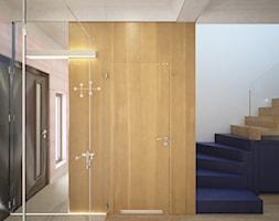 Dom Żory - Średni biały beżowy hol / przedpokój, styl nowoczesny - zdjęcie od ANNA ORLIKOWSKA ARCHITEKTURA WNĘTRZ - Homebook