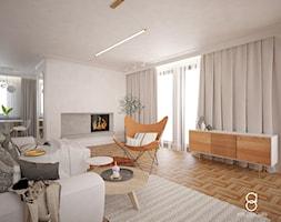 Dom jednorodzinny Kraków - Salon, styl skandynawski - zdjęcie od ANNA ORLIKOWSKA ARCHITEKTURA WNĘTRZ - Homebook