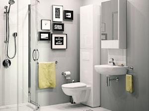 Aranżacje - Średnia szara łazienka w bloku w domu jednorodzinnym bez okna, styl nowoczesny - zdjęcie od KOŁO
