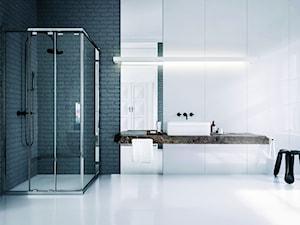 Duża biała łazienka jako salon kąpielowy, styl nowoczesny - zdjęcie od KOŁO