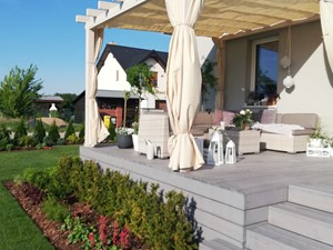 Taras - Średni taras z tyłu domu, styl nowoczesny - zdjęcie od Adriana Piotrowska