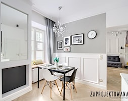 Mieszkanie na Mariensztacie - Mały czarny salon z jadalnią - zdjęcie od ZAPROJEKTOWANA - Homebook