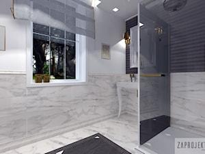 Łazienka-Klasyka z elementami glamur