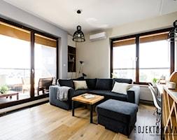Apartament w stylu skandynawskim - Średni biały salon z jadalnią, styl nowoczesny - zdjęcie od ZAPROJEKTOWANA - Homebook