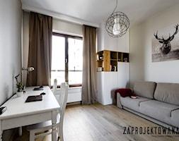 Apartament w stylu skandynawskim - Średnia beżowa sypialnia małżeńska, styl skandynawski - zdjęcie od ZAPROJEKTOWANA - Homebook