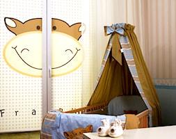 Mały różowy pokój dziecka dla chłopca dla dziewczynki dla niemowlaka dla malucha, styl eklektyczny - zdjęcie od Lotari.pl