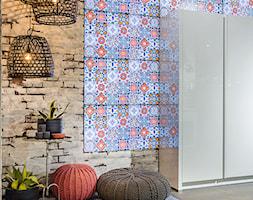 100% design - Średni niebieski brązowy hol / przedpokój, styl eklektyczny - zdjęcie od Artur Krupa - Fotografia Wnętrz - cała Polska