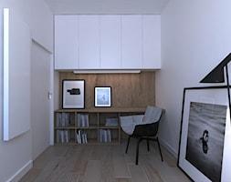 APARTAMENT _ BYDGOSZCZ _ 130mkw - Średnie białe biuro kącik do pracy w pokoju, styl nowoczesny - zdjęcie od Monika Skowrońska Architekt Wnętrz