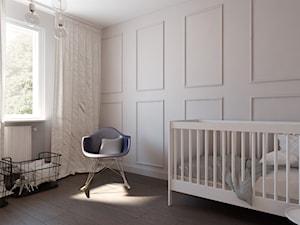 MIESZKANIE - Średni biały pokój dziecka dla chłopca dla dziewczynki dla niemowlaka, styl klasyczny - zdjęcie od Monika Skowrońska Architekt Wnętrz
