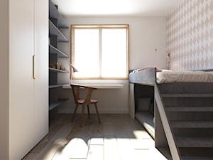Średni beżowy pokój dziecka dla chłopca dla dziewczynki dla rodzeństwa dla ucznia dla nastolatka, styl tradycyjny - zdjęcie od Monika Skowrońska Architekt Wnętrz