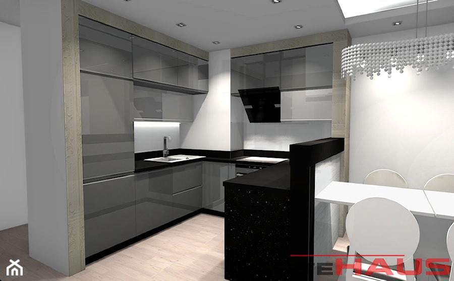 Kuchnia Szara Glamour  zdjęcie od Projektowanie Wnętrz   -> Kuchnia Biala Lakierowana Czy Matowa