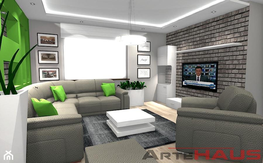 Projekt Salonu w małym mieszkaniu - zdjęcie od Projektowanie Wnętrz ArteHAUS - homebook