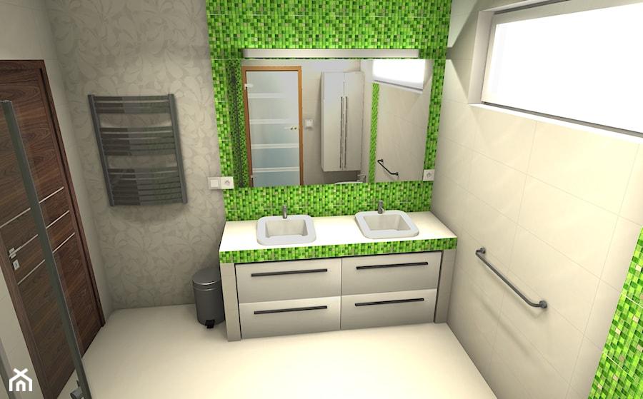 Mozaika Zielona W łazience Zdjęcie Od Projektowanie Wnętrz