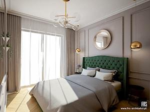 Mieszkanie na Żoliborzu - Średnia biała szara sypialnia małżeńska, styl klasyczny - zdjęcie od FRS ARCHITEKCI