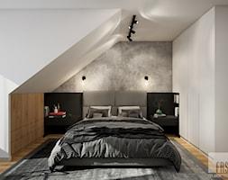 Nowoczesny dom z betonem - Sypialnia, styl nowoczesny - zdjęcie od FRS ARCHITEKCI - Homebook