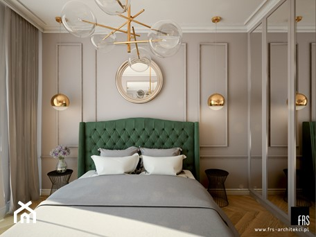 Aranżacje wnętrz - Sypialnia: Mieszkanie na Żoliborzu - Mała szara sypialnia małżeńska, styl nowojorski - FRS ARCHITEKCI. Przeglądaj, dodawaj i zapisuj najlepsze zdjęcia, pomysły i inspiracje designerskie. W bazie mamy już prawie milion fotografii!