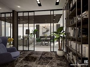 Dom w Krakowie - Średnie czarne biuro domowe w pokoju, styl nowoczesny - zdjęcie od FRS ARCHITEKCI