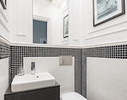 Mieszkanie w Lublinie - Średnia biała czarna łazienka, styl nowoczesny - zdjęcie od wz studio