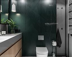 Gdańsk. ul. Beniowskiego - Średnia szara zielona łazienka bez okna, styl nowoczesny - zdjęcie od Raca Architekci