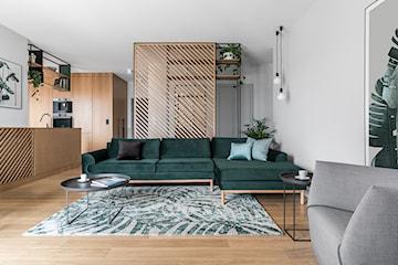 Wyjątkowy projekt: butelkowa zieleń w nowoczesnym mieszkaniu