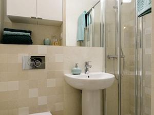Zielony Żoliborz - Mała łazienka w bloku w domu jednorodzinnym bez okna, styl nowoczesny - zdjęcie od IDEALS . marta jaślan interiors