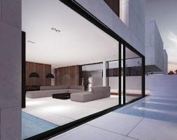 Projekt Kompleksu Mieszkalnego / Jeddah (SA) - Średni taras z tyłu domu, styl minimalistyczny - zdjęcie od MOOMOO ARCHITECTS