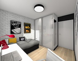 Metamorfoza pokoju nastolatka - Mały biały szary pokój dziecka dla chłopca dla dziewczynki dla ucznia dla nastolatka - zdjęcie od Studio FORMAT HOME