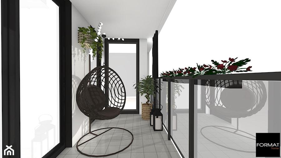 Aranżacje wnętrz - Taras: Mieszkanie black & white - Średni taras z tyłu domu - Studio FORMAT HOME. Przeglądaj, dodawaj i zapisuj najlepsze zdjęcia, pomysły i inspiracje designerskie. W bazie mamy już prawie milion fotografii!