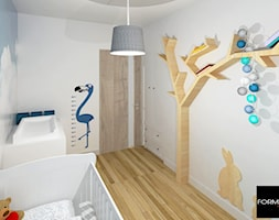 Mieszkanie w Krakowie - Średni biały pokój dziecka dla chłopca dla dziewczynki dla niemowlaka - zdjęcie od Studio FORMAT HOME