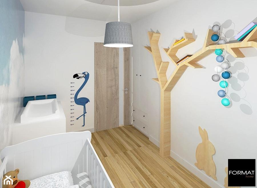 Aranżacje wnętrz - Pokój dziecka: Mieszkanie w Krakowie - Średni biały pokój dziecka dla chłopca dla dziewczynki dla niemowlaka - Studio FORMAT HOME. Przeglądaj, dodawaj i zapisuj najlepsze zdjęcia, pomysły i inspiracje designerskie. W bazie mamy już prawie milion fotografii!