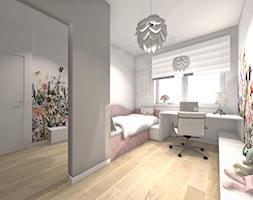 Projekt pokoi dziecięcych - Średni biały szary beżowy kolorowy pokój dziecka dla dziewczynki dla malucha - zdjęcie od Studio FORMAT HOME
