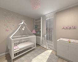 Pokój Adeli - Średni szary pokój dziecka dla dziewczynki dla niemowlaka - zdjęcie od Studio FORMAT HOME