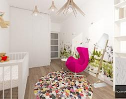 Mieszkanie ludzi z pasją - Średni biały pokój dziecka dla dziewczynki dla niemowlaka, styl nowoczesny - zdjęcie od Studio FORMAT HOME