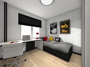 Metamorfoza pokoju nastolatka - Średni szary pokój dziecka dla chłopca dla dziewczynki dla ucznia dla malucha dla nastolatka - zdjęcie od Studio FORMAT HOME