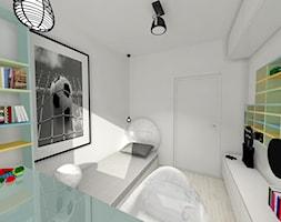 Apartament w Katowicach - Mały biały pokój dziecka dla chłopca dla dziewczynki dla ucznia dla malucha - zdjęcie od Studio FORMAT HOME