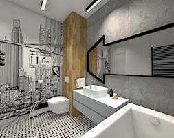 Projekt łazienek w nowoczesnym stylu - Średnia beżowa szara łazienka w domu jednorodzinnym bez okna - zdjęcie od Studio FORMAT HOME