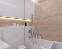 Warszawa Wola - Średnia biała łazienka, styl skandynawski - zdjęcie od kkarchitekci