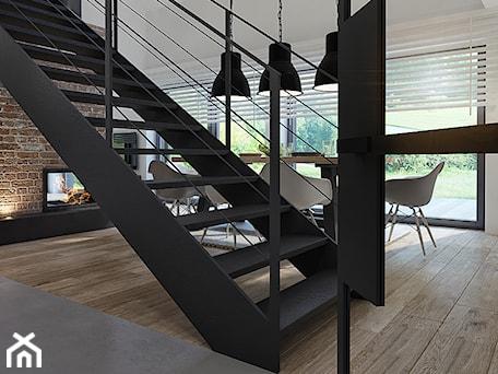 nowoczesna stodoła - Średni biały hol / przedpokój, styl skandynawski - zdjęcie od kkarchitekci
