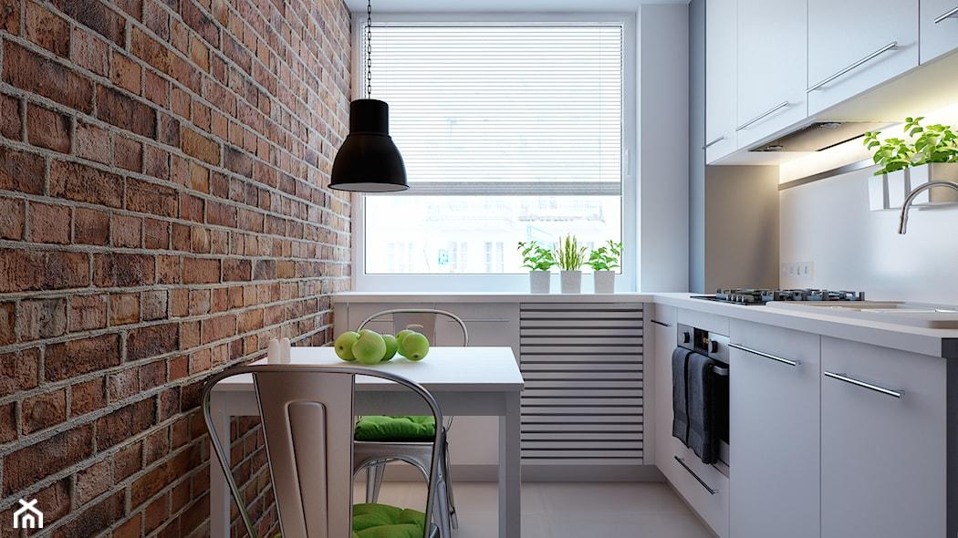 Jak urządzić małą kuchnię w bloku? Zobacz sprytne   -> Kuchnia Na Poddaszu W Bloku