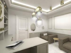 Studio Tańca - Średnie białe biuro domowe w pokoju, styl klasyczny - zdjęcie od METEOR