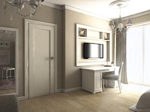 Dom w Gdańsku - Duży beżowy pokój dziecka dla dziewczynki dla nastolatka, styl glamour - zdjęcie od METEOR