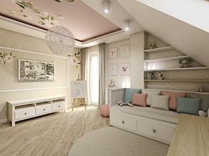 Pokój dziewczynki - Duży beżowy pokój dziecka dla dziewczynki dla malucha, styl klasyczny - zdjęcie od METEOR