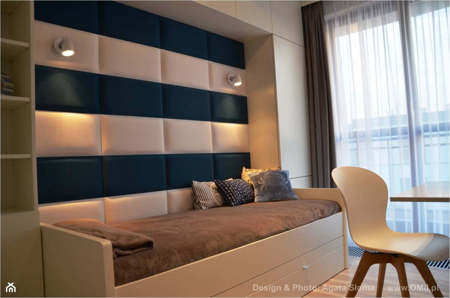 pokój dziecięcy z dodatkowym łóżkiem - zdjęcie od OMII. Agata Słoma - Homebook
