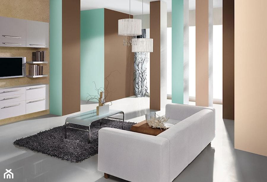 Aranżacje - Mały brązowy salon - zdjęcie od Magnat Magia Szlachetnych Barw