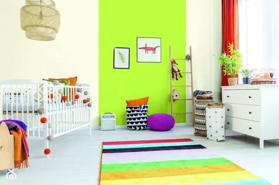 Aranżacje - Średni biały beżowy zielony pokój dziecka dla chłopca dla dziewczynki dla malucha, styl eklektyczny - zdjęcie od Magnat Magia Szlachetnych Barw