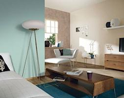 Aranżacje - Mały beżowy niebieski brązowy salon, styl eklektyczny - zdjęcie od Magnat Magia Szlachetnych Barw