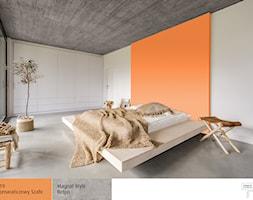 Pomarańczowa Sypialnia Aranżacje Pomysły Inspiracje